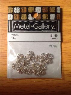 Metal Gallery 20 pcs. Bead caps.  Hobby lobby.