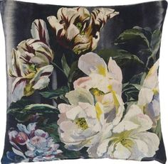 Buy Designers Guild Delft Flower Cushion, Noir from our Cushions range at John Lewis & Partners. Plain Cushions, Floral Cushions, Printed Cushions, Decorative Cushions, Floral Fabric, Designers Guild, Cheap Furniture Stores, Custom Made Furniture, Furniture Ideas