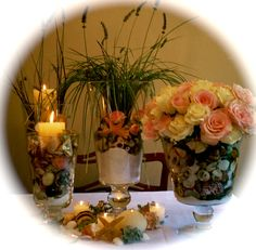 Bride & Grooms table ( flower grouping)