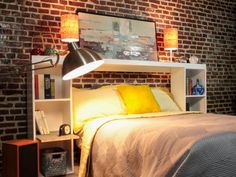 How to Make a Storage Headboard : Home Improvement : DIY Network