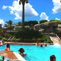 Orlando Fl Cedar Bridge Over Pool Florida Decorative