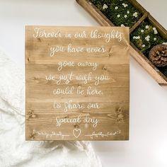 Wedding Seating Signs, Wood Wedding Signs, Rustic Wedding, Wedding Day, Rustic Feel, Rustic Style, Memory Table, Wedding Memorial, Guest Book Alternatives