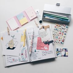 "eatsleepmedrepeat: "" The bare necessities when planning out my week - Kikki.K and Muji stationery ! """