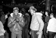Two of the greatest MC's of all time..Kool Moe Dee and Grandmaster Caz at Harlem World 1980