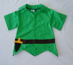 Peter Pan Top  Peter Pan Costume  Neverland  by LoopsyBaby on Etsy