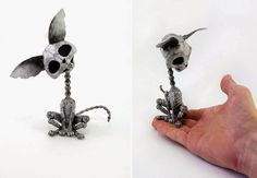 Russian artist Igor Vernity creates steampunk animals from old things, like car parts, watches and electronics.