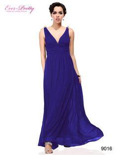 Ever Pretty Blues Double V Elegant Evening Dress - Ever-Pretty
