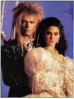 1986 - David Bowie as Jareth and Jennifer Connelly as Sarah in Labyrinth.
