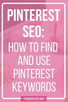 Learn how to use keywords on Pinterest with these Pinterest SEO tips for Pinterest marketing. Click here to find out how to use Pinterest SEO and Pinterest keywords! // Fudge My Life -- #pinteresttips #SEOmarketing #SEOtips Small Business Marketing, Seo Marketing, Online Marketing, Business Tips, Marketing Strategies, Online Business, Digital Marketing, Pinterest Board Names, Pinterest For Business