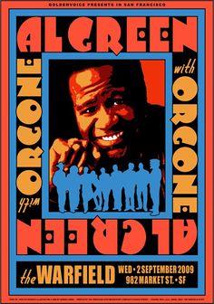 Al Green 2009 Concert Poster