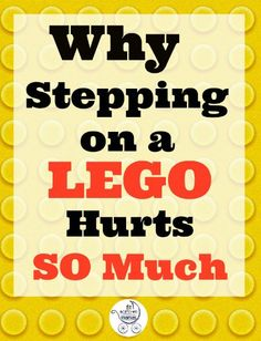 Ever wondered why stepping on a LEGO hurts so much? This is why!