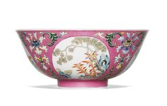 A PINK SGRAFFIATO-GROUND FAMILLE-ROSE 'MEDALLION' BOWL<br>DAOGUANG SEAL MARK AND PERIOD | Lot | Sotheby's