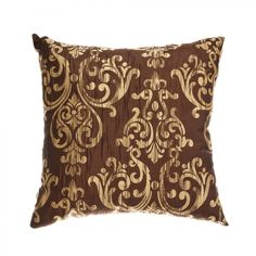 Softline Home Fashions Laura Pillow in Chocolate Gold - - Pillows - Bed & Bath Chocolate Gold, Gold Material, Slipcovers, Bed Pillows, Sweet Home, Walmart, Blanket, House Styles, Pattern