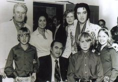With Governor George Wallace and his family backstage before Elvis' concert at the Garrett Coliseum in Montgomery, AL on March 6, 1974