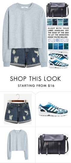 """""""the arms of the ocean"""" by scarlett-morwenna ❤ liked on Polyvore featuring adidas, MANGO, NYX, kitchen and vintage"""