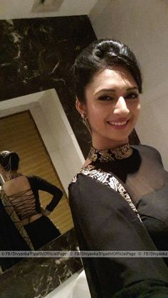 Divyanka Tripathi - look in the mirror. Great back