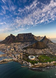 Aerial view of Cape Town, South Africa. Cape Town Photography, Table Mountain Cape Town, Places To Travel, Places To Visit, Cape Town South Africa, Safari, Travel Aesthetic, Africa Travel, Travel Usa