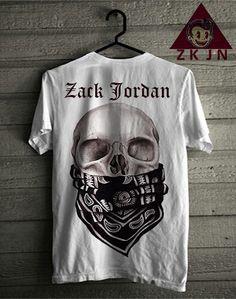 Zack Jordan T-shirt. skull mask Zack Jordan