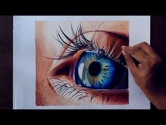 Drawing a realistic eye using colored pencils. - YouTube