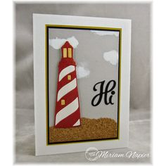Serendipity Stamps Lighthouse and Hello Dies