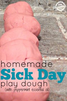 Kids under the weather?  Try this sick day playdough