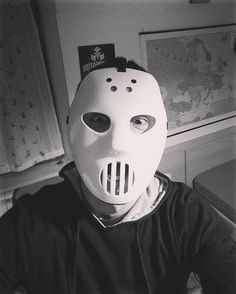On instagram by myrosss #angerfist #gabbermadness (o) http://ift.tt/1NKhJUC I found the madness inside me I feel my heart beating hard.   #mask #madness #hard #crazy #photooftheday