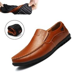 a5f87589d86 Genuine Leather Mens Moccasin Shoes Black Men Flats Breathable Casual  Italian Loafers Comfortable Plus Size Driving Shoes. Price Archive