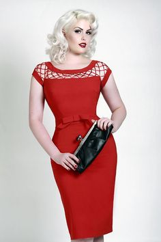 bettie page dress in red