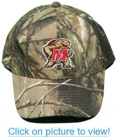 b2f5e6a2bcc86 University of Maryland Terrapins Buckle Back Hat Embroidered Camo Cap  NEW!