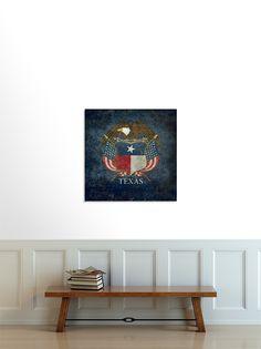 Texas flag and eagle crest, Vintage - BruceStanfieldArtist