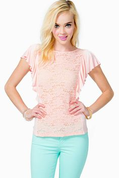 Flutter And Lace Tee