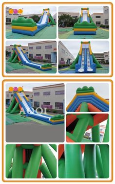 AQ1031-1 (30*10*10mH/98.43'*32.81'*32.81') Inflatable high water slide Summer is coming! It has become a trend for a host of teenagers to play inflatable high water slide. People can slide down the top of the slide. The inflatable high water slide makes for an exciting ride from the moment you begin.
