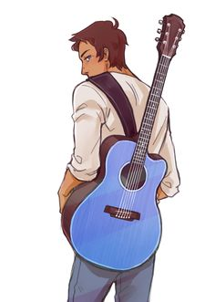 Since Jeremy shada can sing and Finn can on adventure Time.then that means lance can sing and if he sang on Voltron, my life would be so GREAT😍😍 Guitar Drawing, Boy Drawing, Form Voltron, Voltron Klance, Lance Mcclain Voltron, Character Drawing, Character Design, Cartoon Kunst, Space Cat