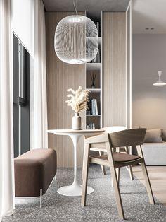 Interior Architecture, Interior Design, Beautiful Interiors, Pendant Lamp, Interior Inspiration, Furniture Design, Dining Chairs, Indoor, House Design