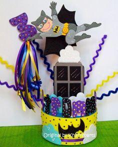 Superheroe Birthday Cake Topper Batman Wonder woman Superman Spiderman | kharygoarts - Children's on ArtFire