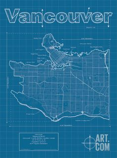 Vancouver map art print vancouver print vancouver art print vancouver artistic blueprint map gumiabroncs Choice Image