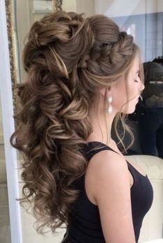 Wedding Hairstyles For Long Hair Hochzeitsfrisuren Long Hair Wedding Styles, Wedding Hairstyles For Long Hair, Fancy Hairstyles, Wedding Hair And Makeup, Braided Hairstyles, School Hairstyles, Bridesmaid Hair, Prom Hair, Medium Hair Styles