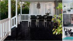 Buiten wonen... dat kan met buiten karpetten, buiten gordijnen, buiten houten jaloezieën, buiten tapijt.... BUITEN