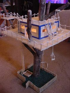 12 popsicle stick tree house