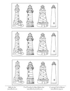 Printable Lighthouse Coloring Pages Lighthouse at Milliande Printables Teaching Art, Teaching Tools, Lighthouse Clipart, Diy Canvas, Art Pages, Elementary Art, Diy Art, Art For Kids, Coloring Pages