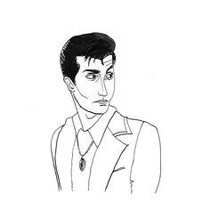 dagdagmar/2016/10/28 21:38:38/Inktober day 22 'Alex Turner - Arctic Monkeys' 🎸 #inktober #oktober #illustration #illustratie #alexturner #arcticmonkeys #music #fanart #ink #inkt #doodle #drawing #blackandwhite #tlsp