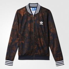 pretty nice ed10e 9ce6d adidas Leaf Camo Superstar Track Jacket - Multicolor   adidas US Camo,  Fitness Fashion,