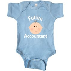 Accountant gift Infant Creeper has cute accounting career job themed logo for…