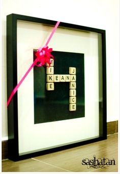 Framed Scrabble Tiles | 25 DIY Gifts You Can Make in Under an Hour