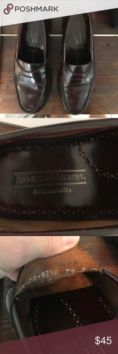 Johnston & Murphy Aristocraft Penny Loafers Size 7.5. Excellent gently worn condition. Burgundy leather. Vintage Penny Loafers 👞. Johnston & Murphy Shoes Loafers & Slip-Ons