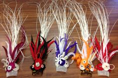 ALOHA HULA SUPPLY:  Decorated Tahitian Combs:  Handcrafted to your color choice.  Call us today!