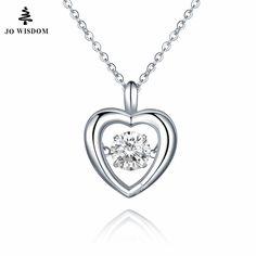 JO WISDOM 925 Sterling Silver Necklace Womens Necklaces Jewelry Pendentifs Sterling-silver-jewelry Pendant Necklace for Women