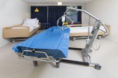 Zeer ruime slaapkamers in de volledig aangepaste vakantiebungalows in het Bio Vakantieoord, Arnhem