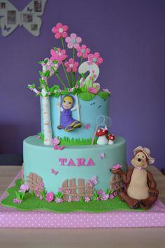 Masha and the Bear cake - Cake by Zaklina Baby Cakes, Adult Birthday Cakes, Girl Cakes, Bolo Do Paw Patrol, Paw Patrol Cake, Masha Cake, Masha Et Mishka, Different Types Of Cakes, Paw Patrol Birthday Cake