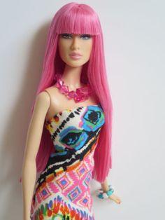 OOAK-Barbie-doll-re-root-reroot-pink-hair-Daria-model-moment-model-muse-bangs